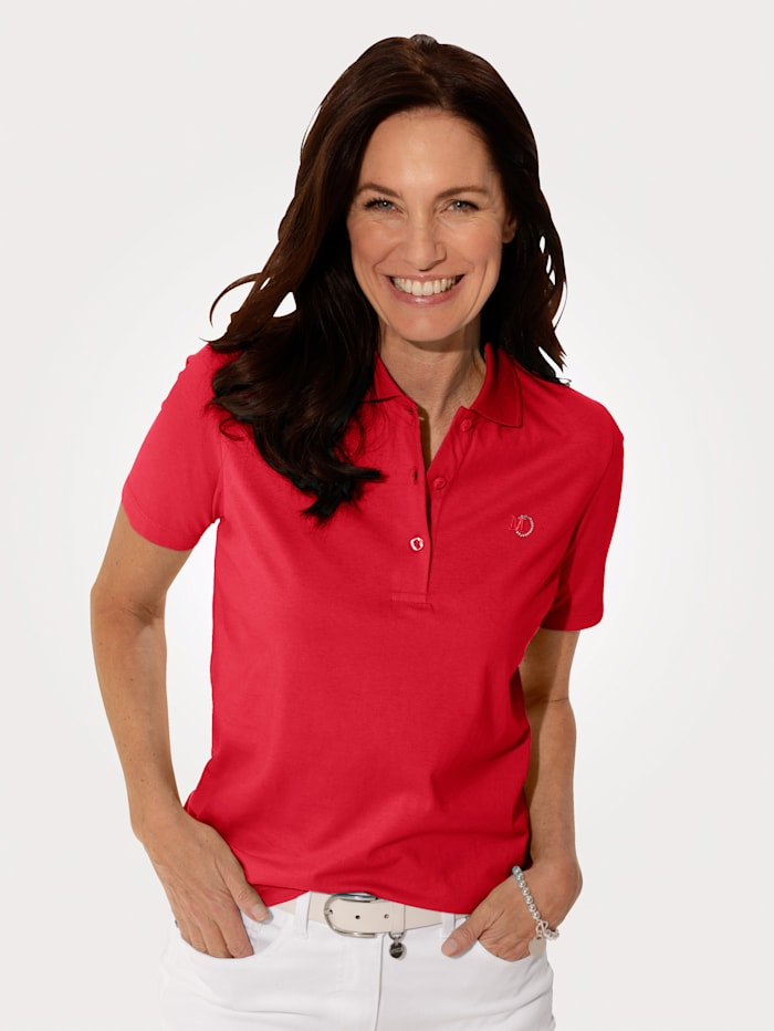 MONA Poloshirt aus Cotton made in Africa, Rot