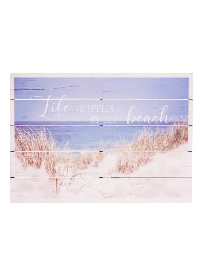 IMPRESSIONEN living Holzbild, Beach, multicolor