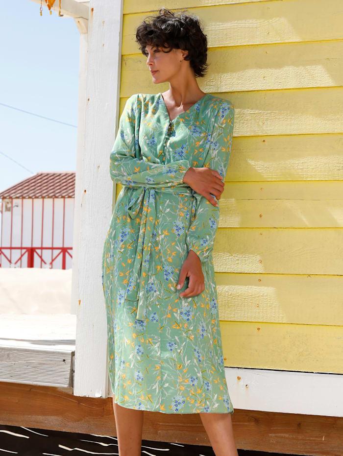 Dress In Kleid mit Bindegürtel, Salbeigrün