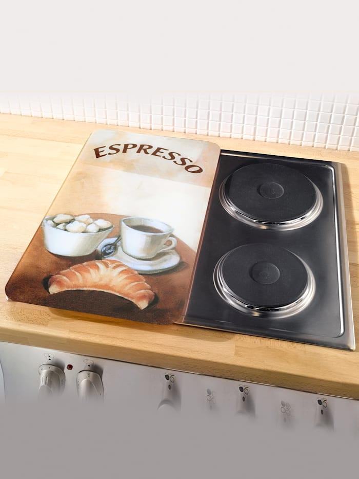 2er-Set Herdabdeckplatten Espresso/Cappuccino