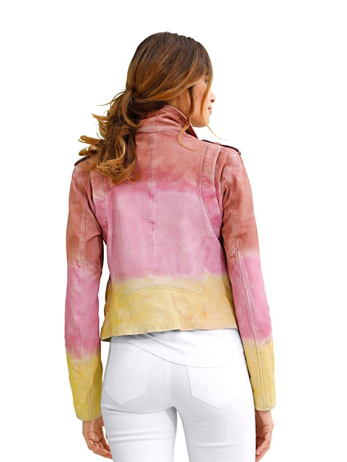 Leren jasje met kleurverloop