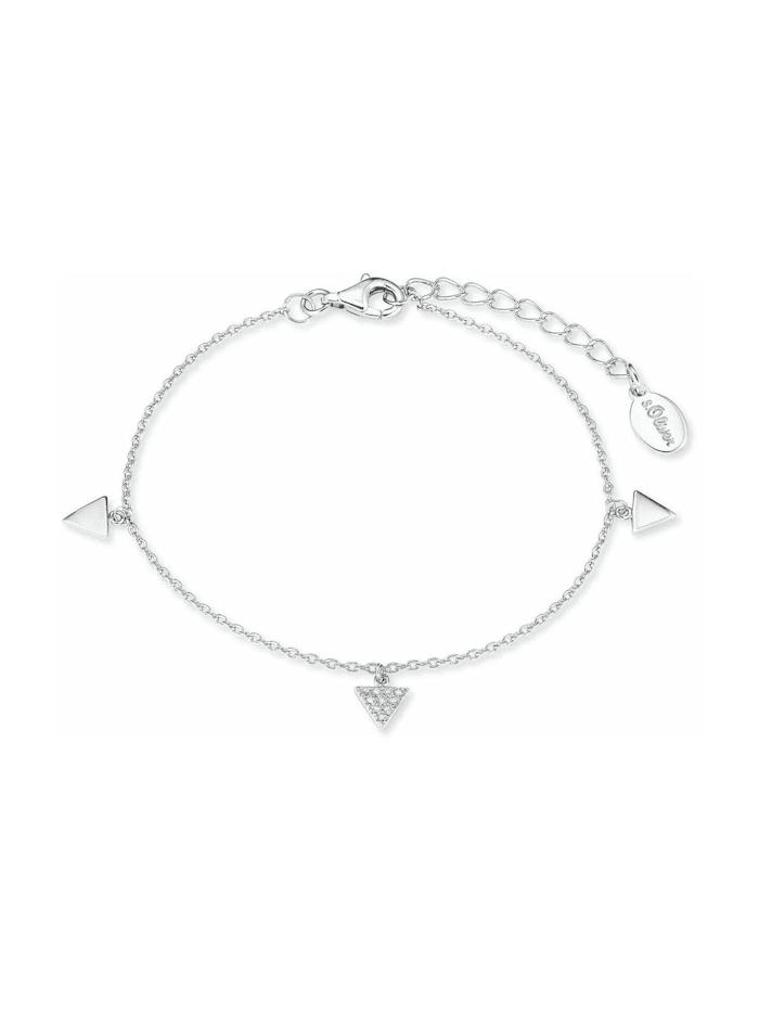 s.Oliver Armkette für Damen, Sterling Silber 925, Zirkonia, Silber