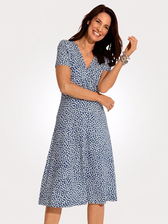 Jersey dress in a wrap look