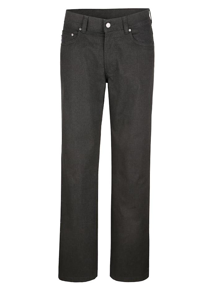 Brühl Pantalon 5 poches d'aspect laine, Anthracite