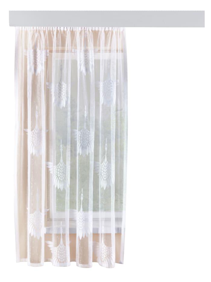 Webschatz Gardin med tranor, vit
