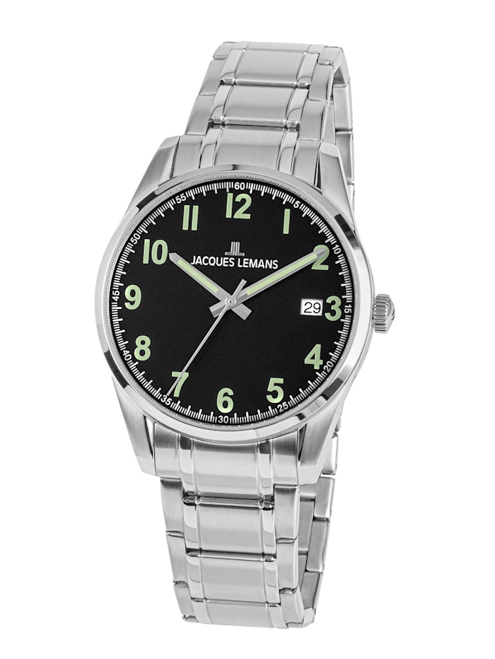 Jacques Lemans Herrenuhr Serie: Liverpool, Kollektion: Sport 1-2070C, Silberfarben