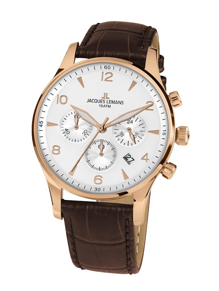 Jacques Lemans Herren-Uhr Chronograph Serie: London, Kollektion: Classic 1-1654.2ZL, Braun