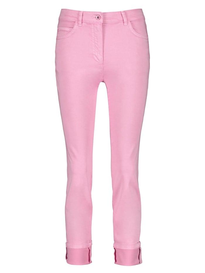 Gerry Weber 5-Pocket Hose mit breitem Umschlag, Pastel Rose