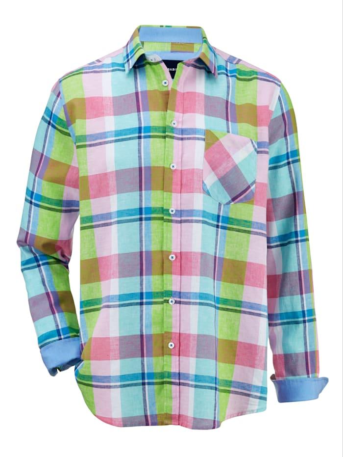 BABISTA Overhemd van luchtig, zomers materiaal, Groen/Roze