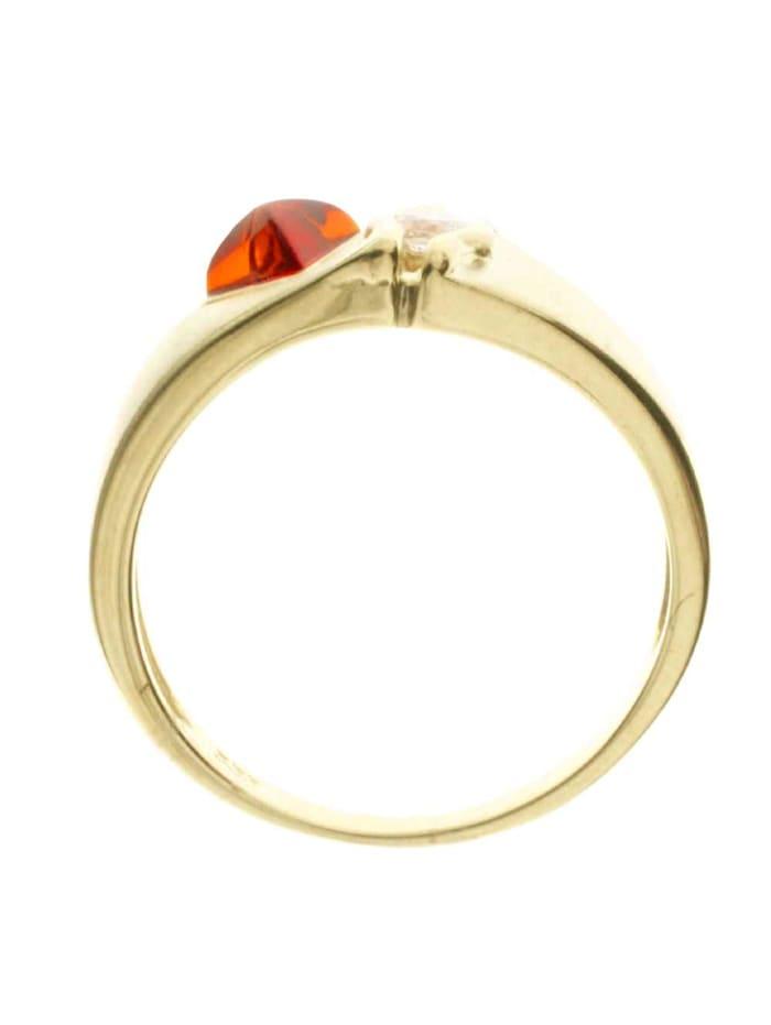 Ring - Benita - Gold 333/000 - Bernstein/Zirkonia