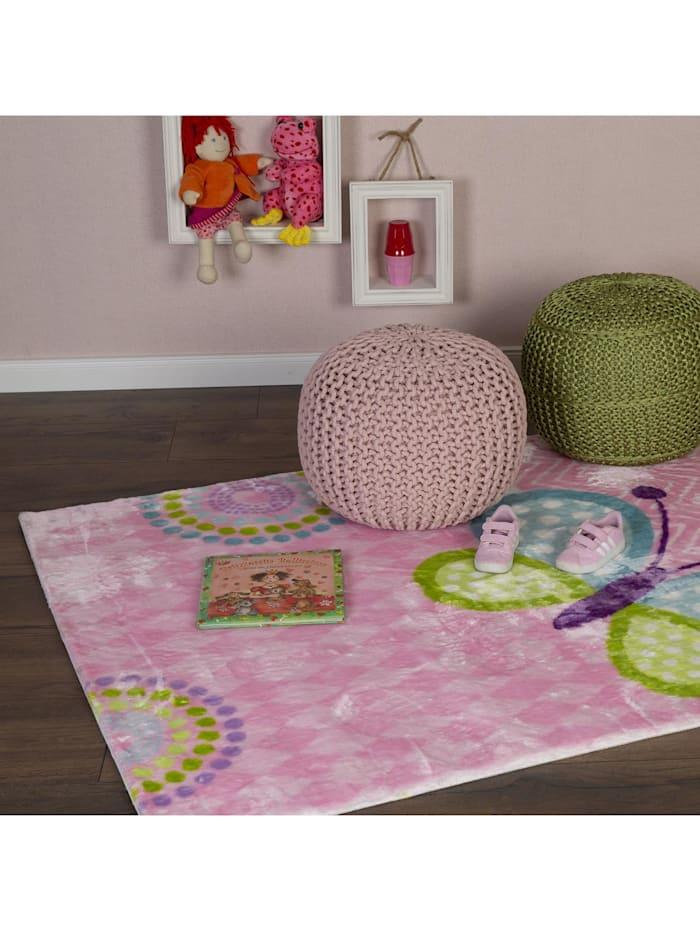 weicher Kinder Teppich Schmetterling bunt for Kids