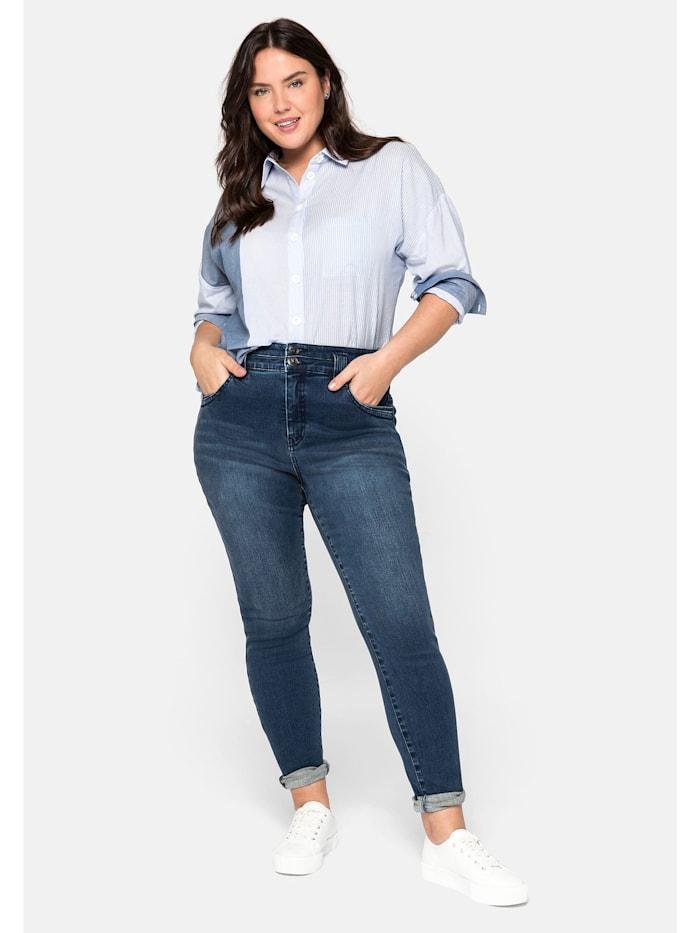 Sheego Jeans mit Bodyforming-Effekt, dark blue Denim
