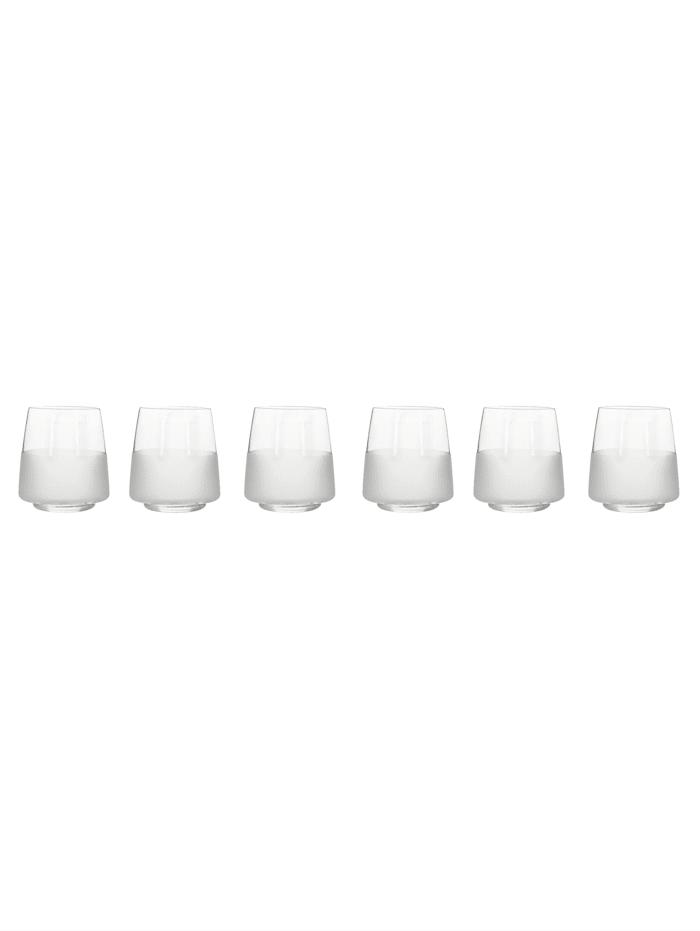 IMPRESSIONEN living Wasserglas-Set, 6-tlg., klar/milchig
