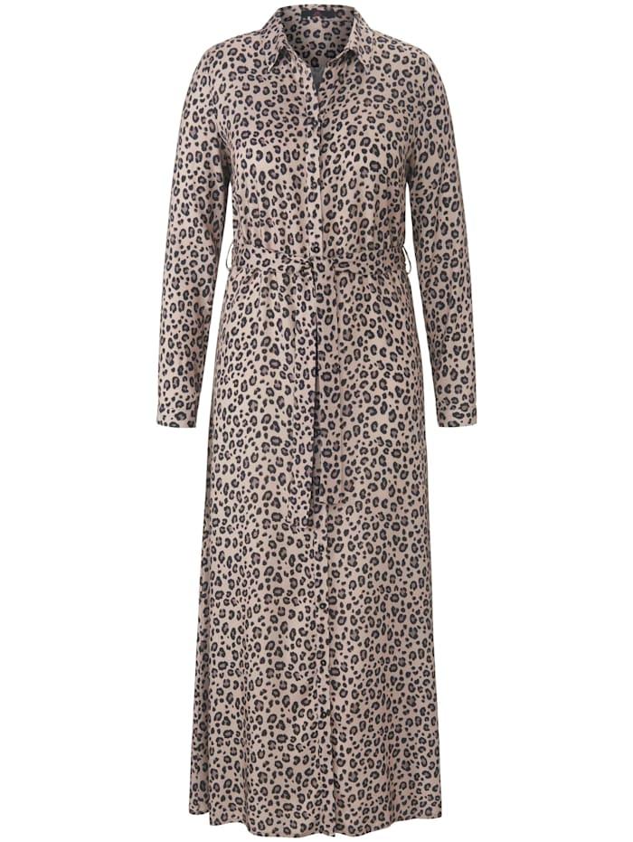 Emilia Lay Abendkleid Hemdblusenkleid, taupe/schwarz