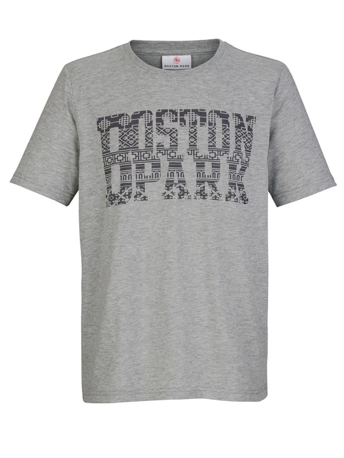 Boston Park T-shirt met print voor, Grijs