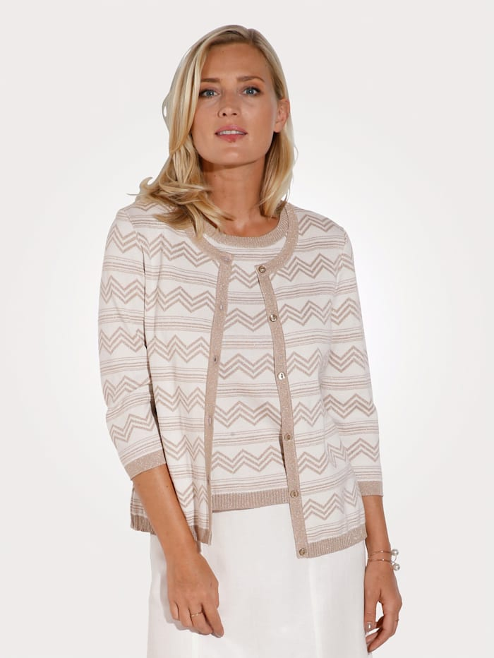 Cardigan with shimmering thread