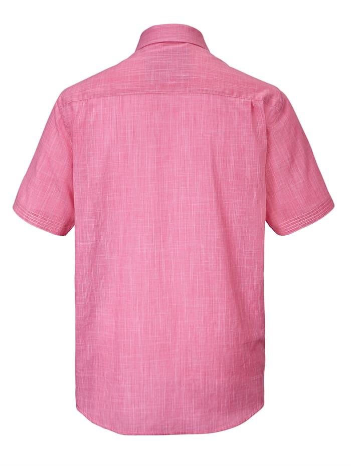 Hemd in zweifarbiger Leinenoptik