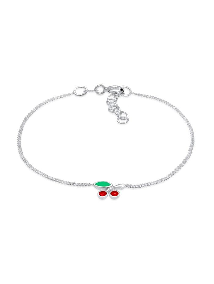 Elli Armband Kinder Kirsche Kristalle 925 Silber, Silber