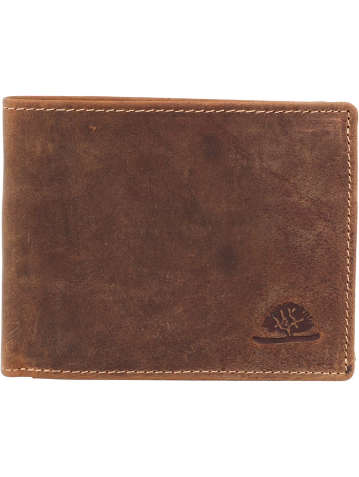 Greenburry Geldbörse Leder 12 cm, brown