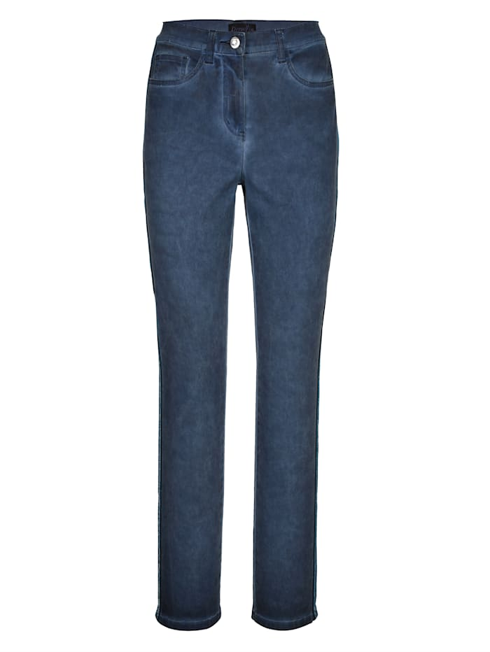 Dress In Trousers in a slim cut, Blue