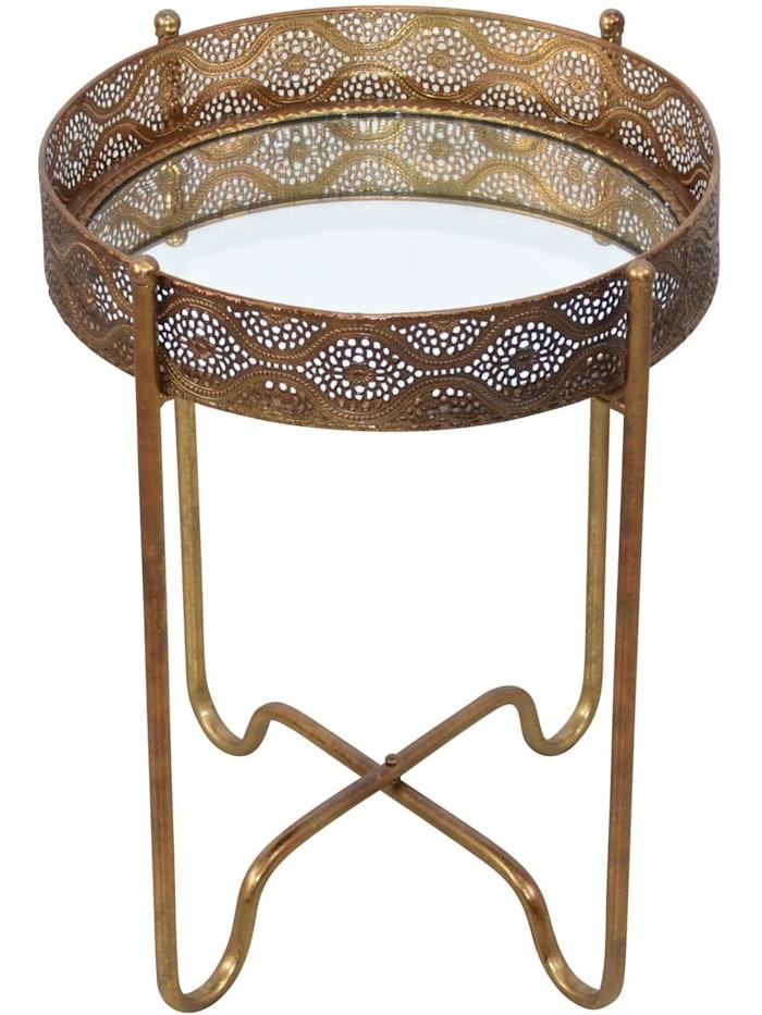 Möbel-Direkt-Online Beistelltisch Madiha, gold