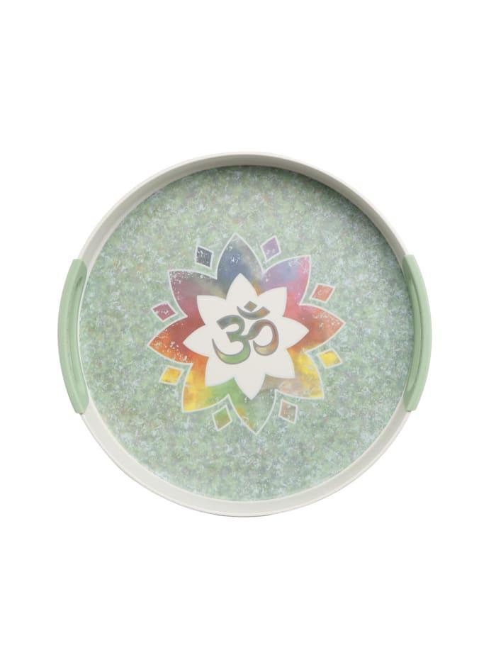 """Goebel Goebel Tablett Lotus - """"Om"""", Bunt"""