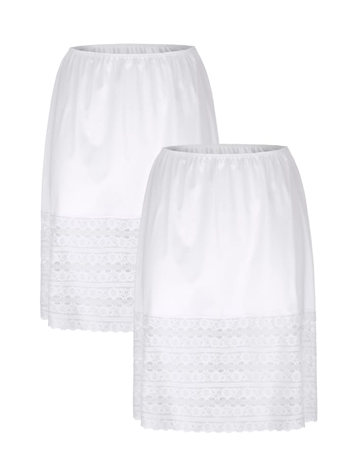 Südtrikot Petticoat set in an anti-static finish, White