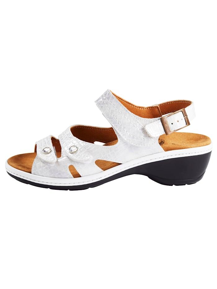 Sandaaltje van klassiek krokoleer
