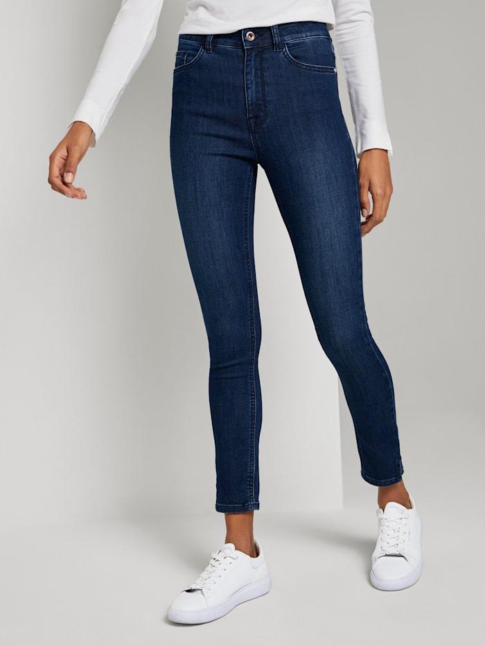 Tom Tailor mine to five Kate Skinny Jeans mit Seitenschlitzen, Clean Rinsed Blue Denim
