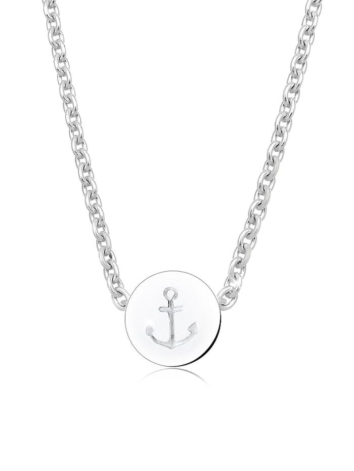 Elli Halskette Anker Maritim Hafen Infinity 925 Silber, Silber