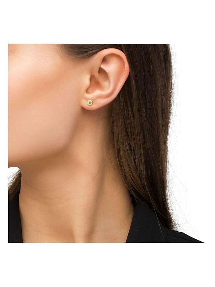 Ohrstecker für Damen, Gold 375, Zirkonia weiß