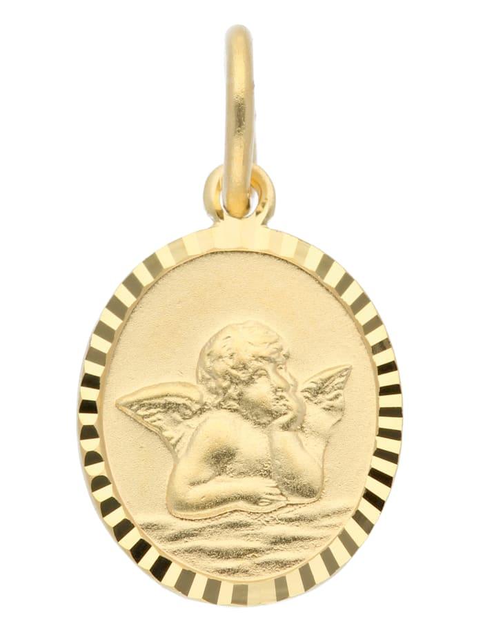 1001 Diamonds Damen Goldschmuck 333 Gold Anhänger Amor, gold