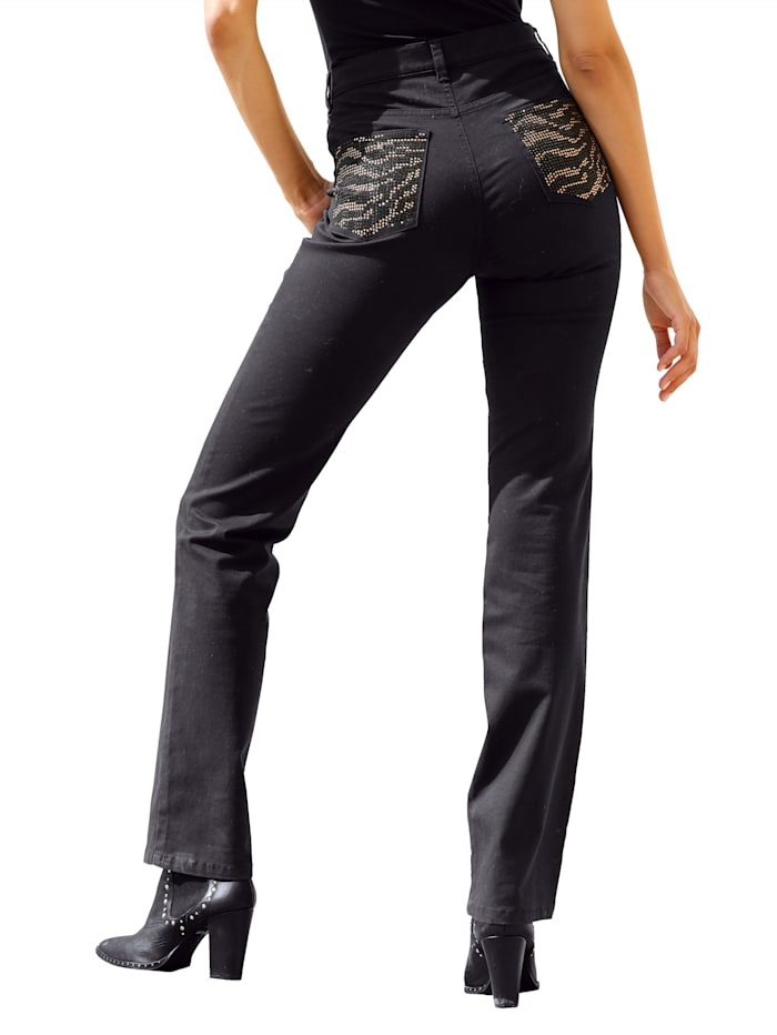 Dress In Pantalon Paola straight, Noir