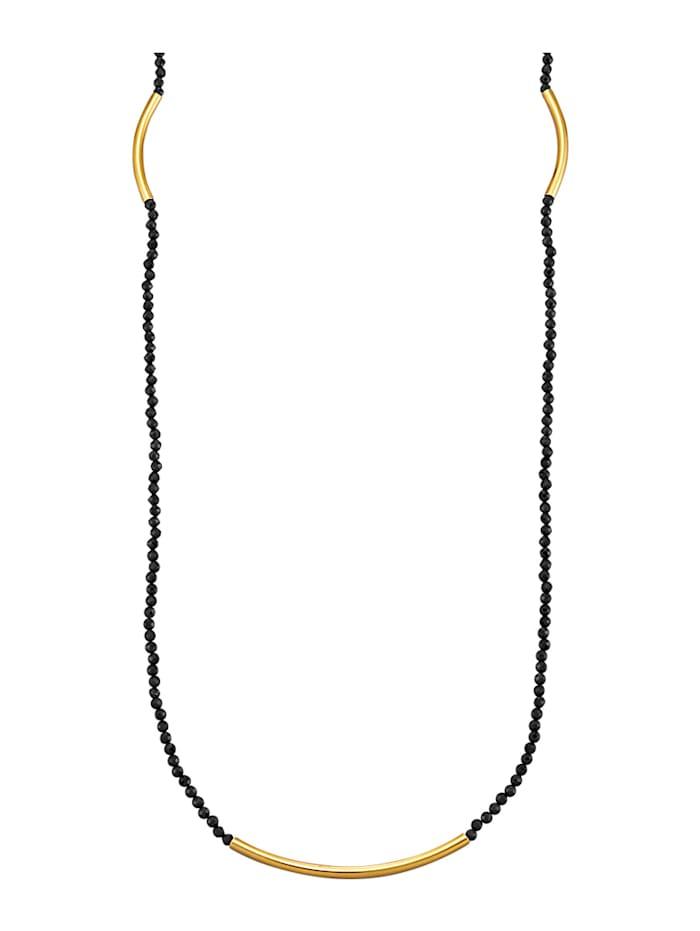 Halsband med svart spinell, Svart