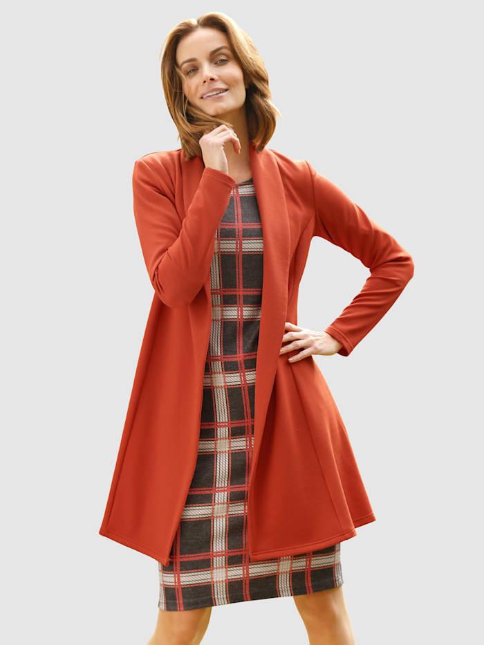 Paola Vest met sjaalkraag, Oranje