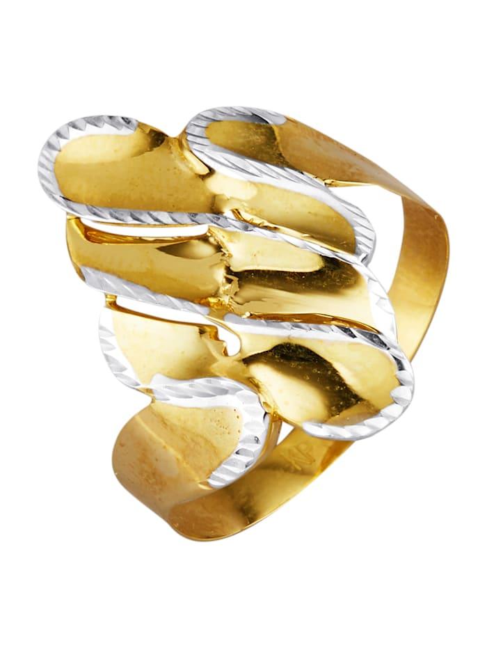 Bague en or jaune 375, Coloris or jaune