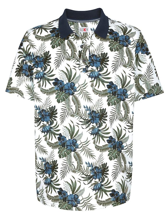 Roger Kent Poloshirt met modieuze bloemenprint, Multicolor