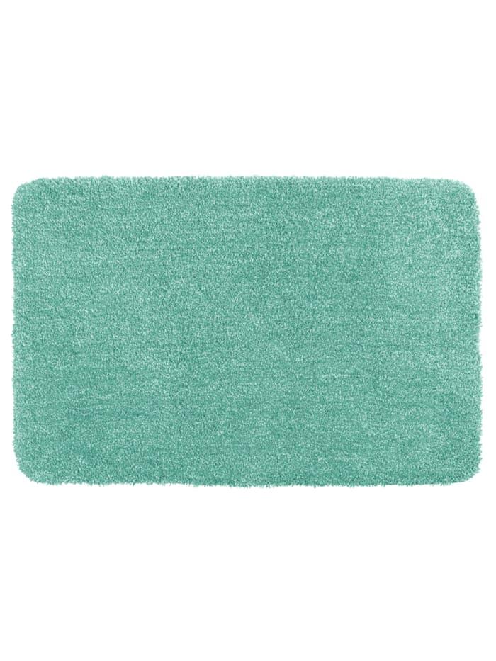 Wenko Badteppich Mélange Turquoise, 56 x 65 cm, 56 x 65 cm, Mikrofaser, Polyester/Mikrofaser: Türkis