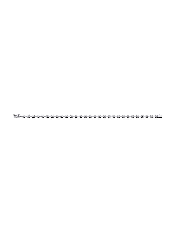 Armband mit Brillant, Weiß