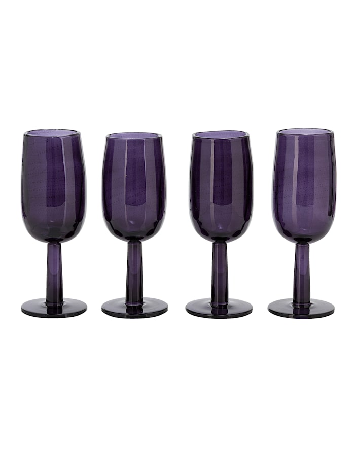 IMPRESSIONEN living Glas-Set, 4-tlg., lila