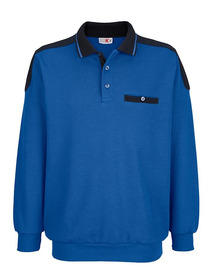 Roger Kent Sweatshirt med detaljer i kontrast, Kungsblå/Marinblå