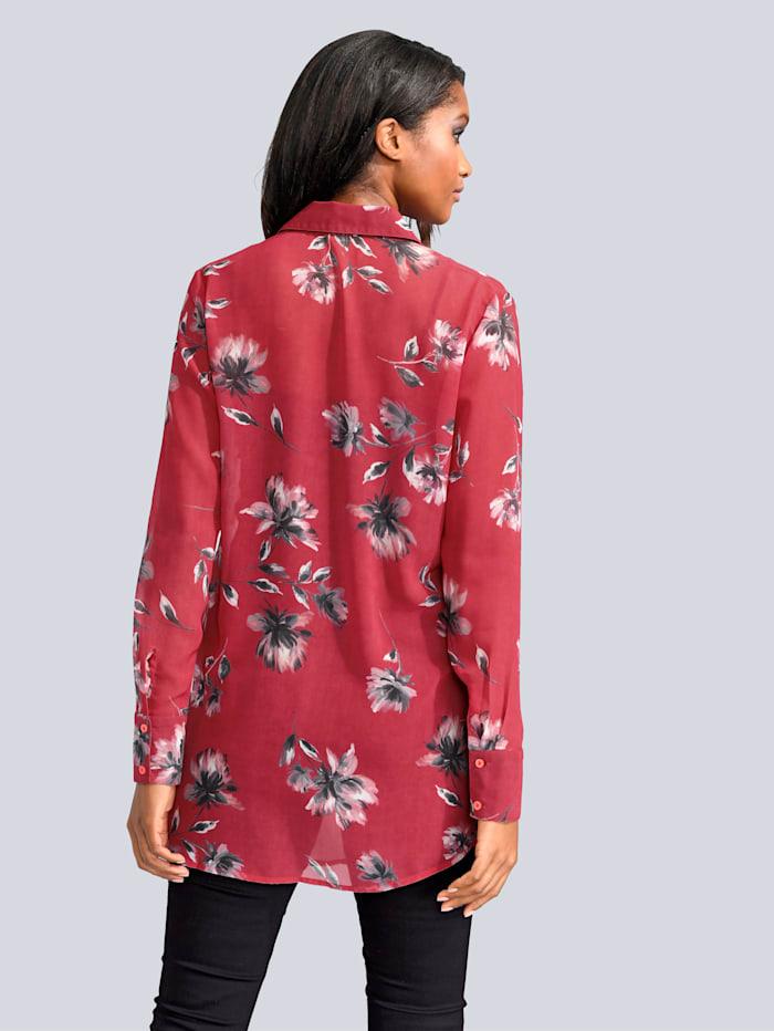 Kukkakuvioitu ohut pusero