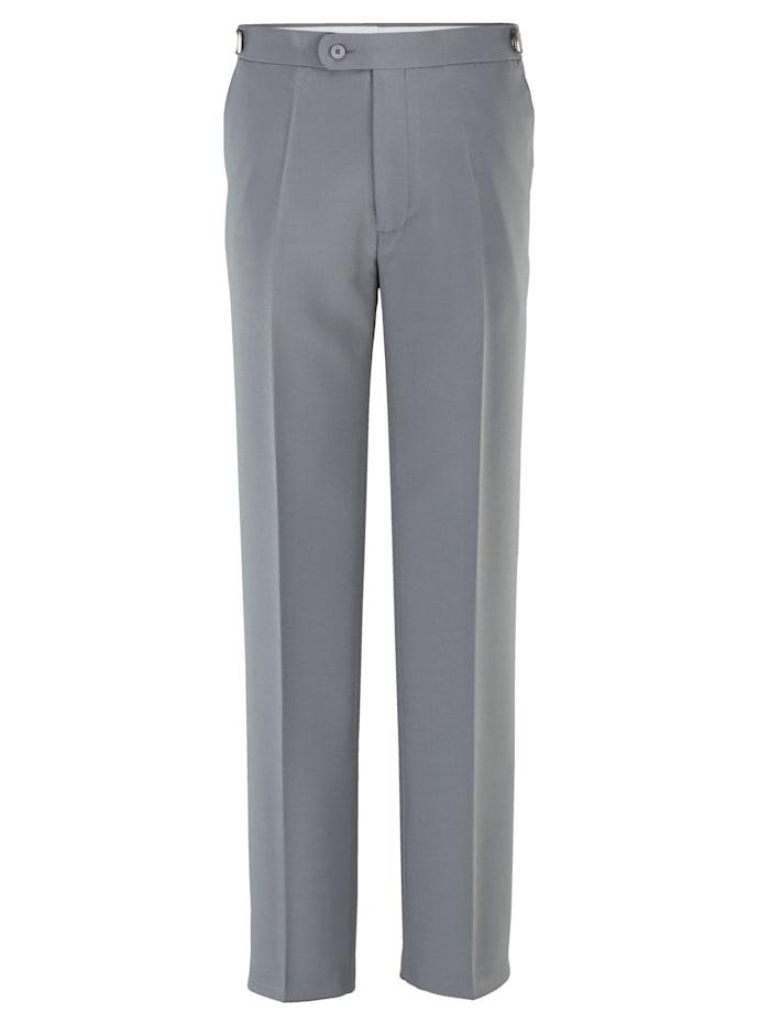 Roger Kent Pantalon à taille ajustable, Gris