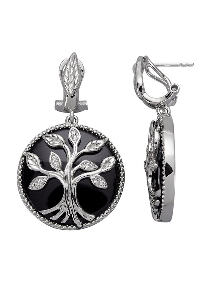 Silber Ohrring 14 Lebensbaum
