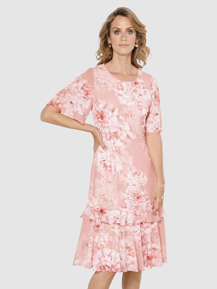 MONA Klänning med blommönster, Rosa