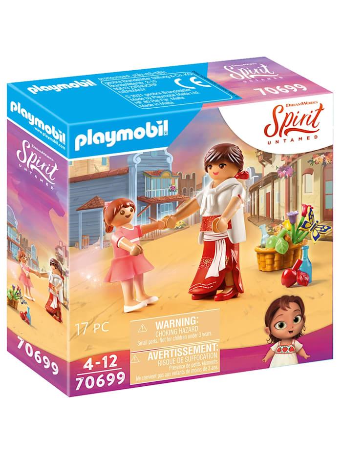 PLAYMOBIL Konstruktionsspielzeug Klein Lucky & Mama Milagro, Bunt