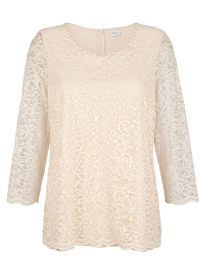 Lace top made from a light fabric