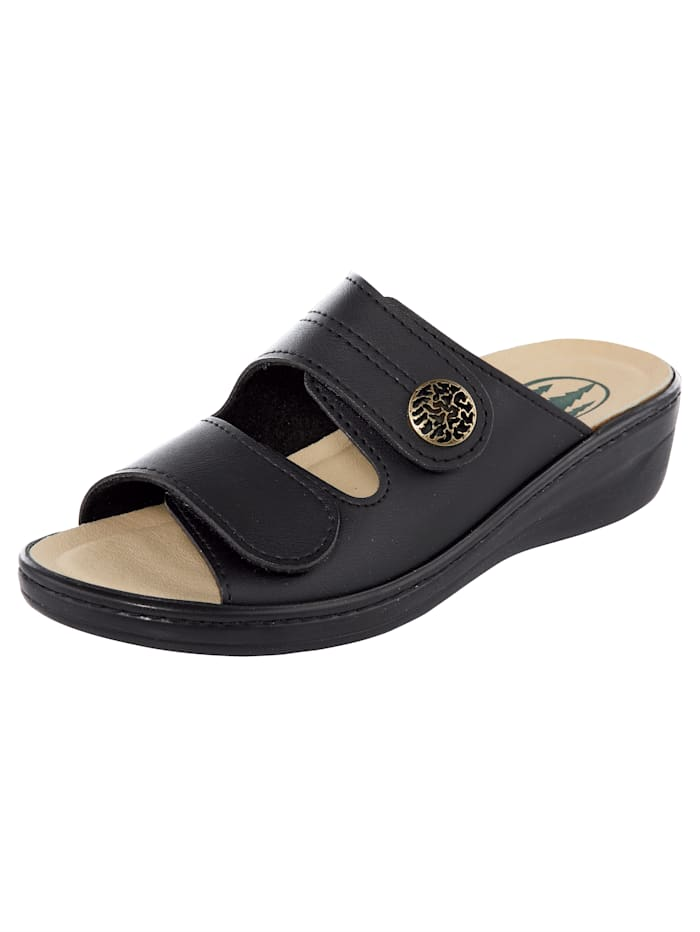 Franken Schuhe Mules, Noir