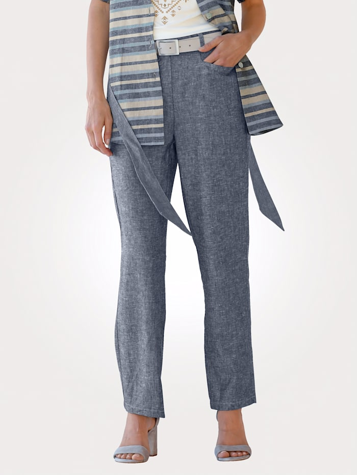 Trousers made from linen blend