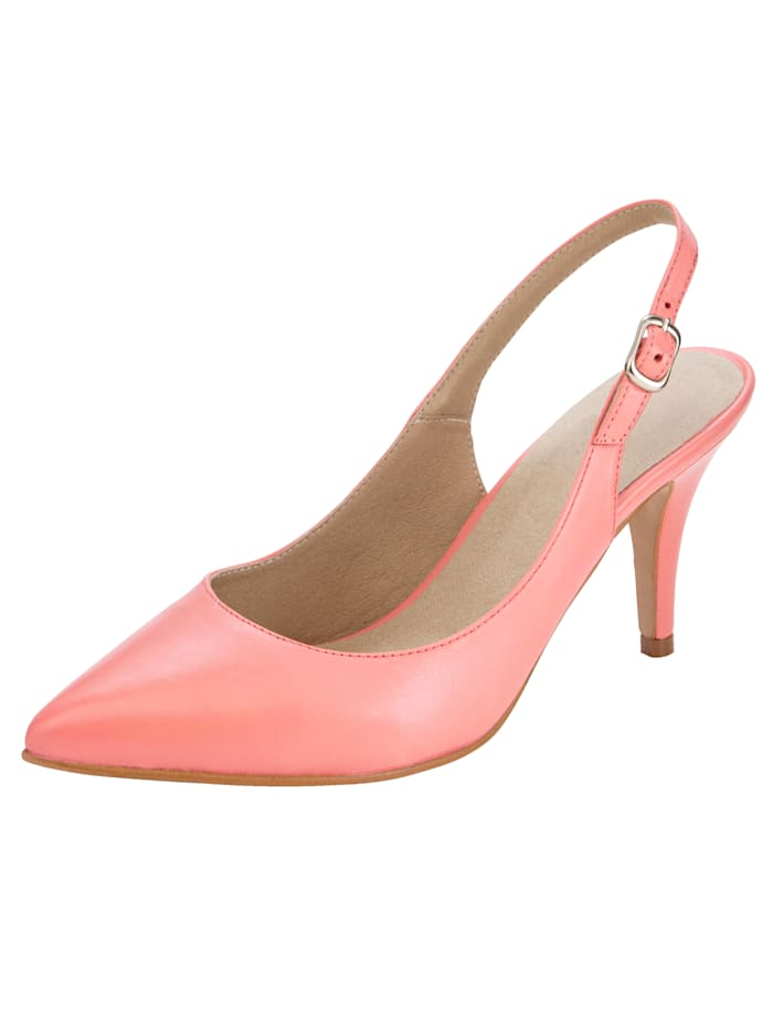 Slingback shoes made from premium-quality nappa leather